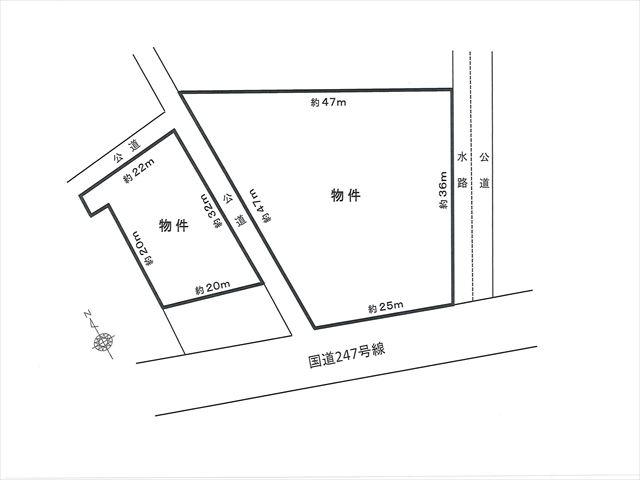 事業用土地の図面